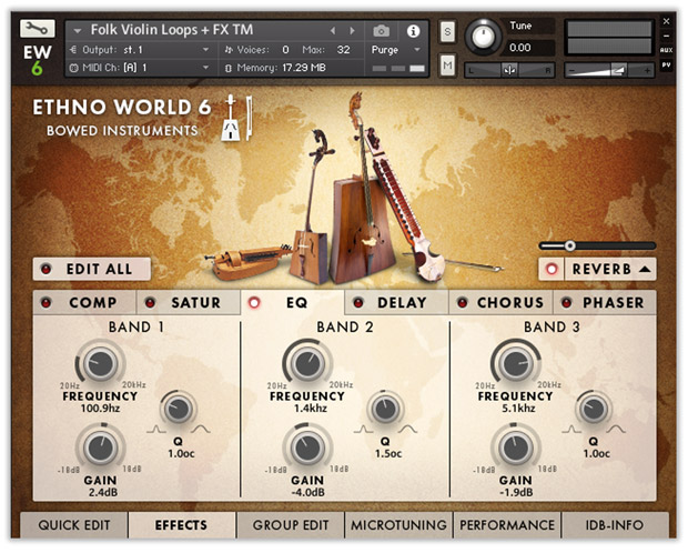 Ethno World Instruments GUI FX